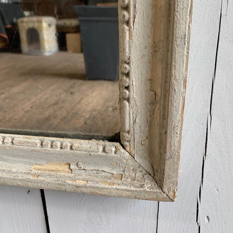 Wood Louis XVI Painted Mirror, 18th Century For Sale