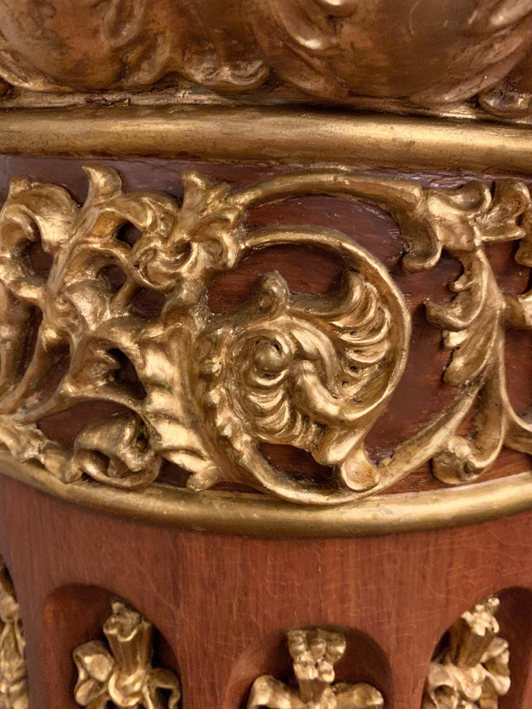 Louis XVI Pair of French circa 1950 Urns and Cover on Pedestals For Sale 7
