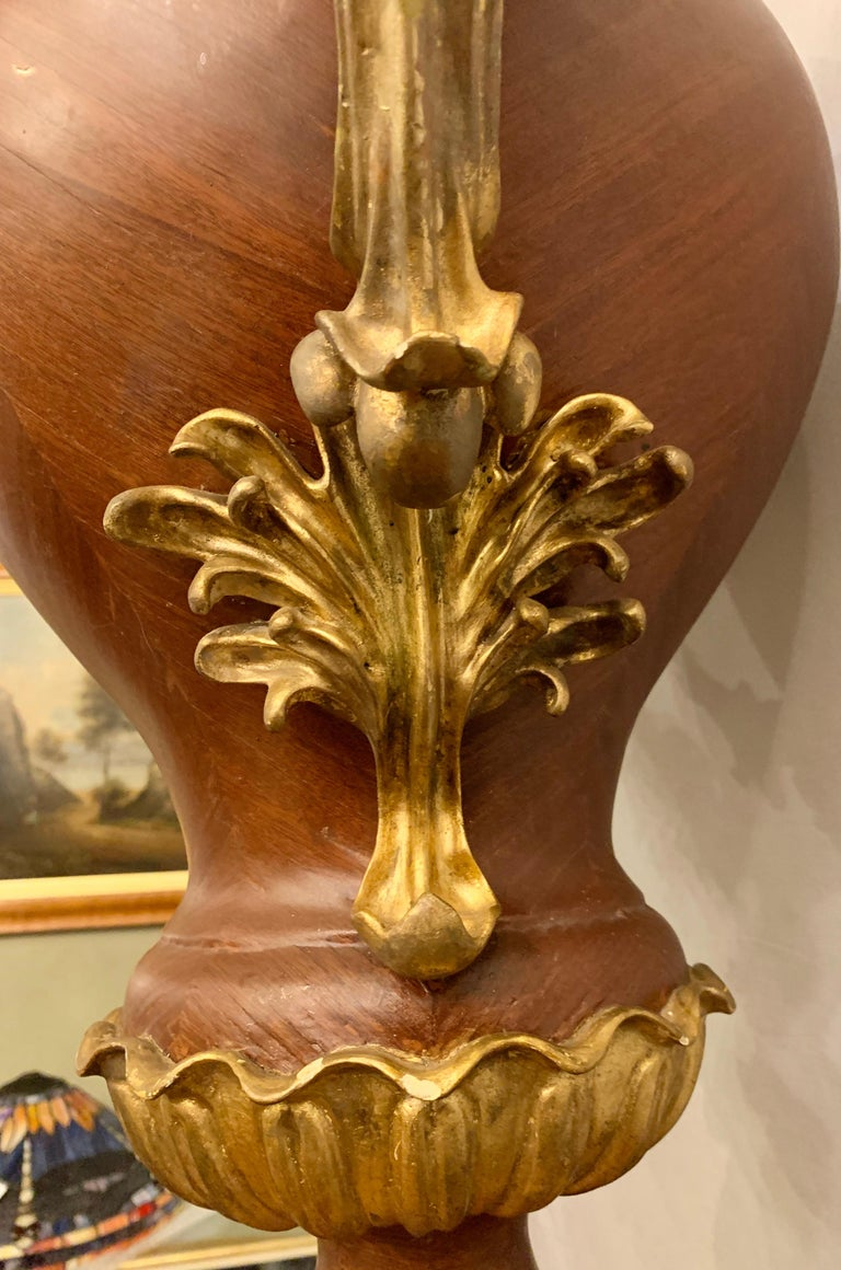 Louis XVI Pair of French circa 1950 Urns and Cover on Pedestals For Sale 2