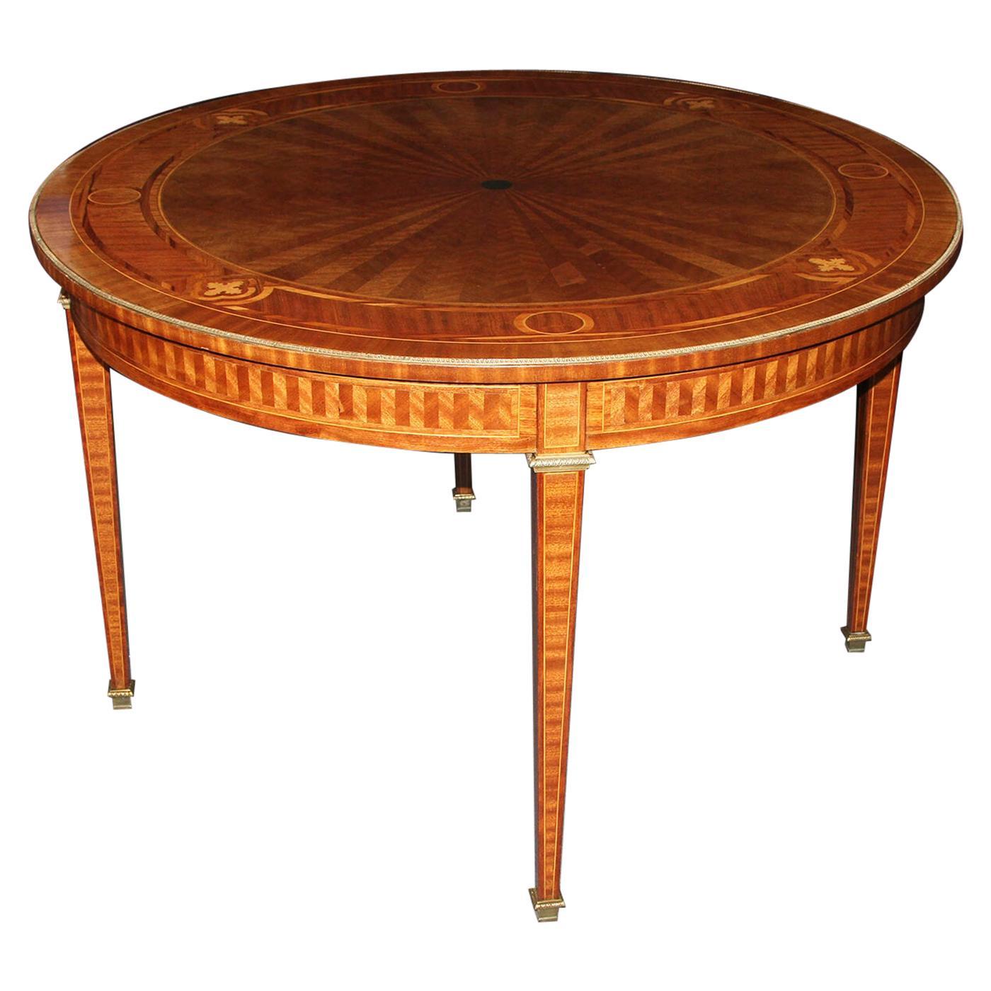 Louis XVI Parquetry Center Table