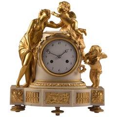 Louis XVI pendulum, L'amour Et L'amitié 'Love and friendship', Late 18th Century