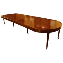 Louis XVI Period Dining Table with 8 Feets in Mahogany