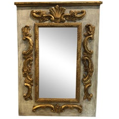 Louis XVI Period Rectangular Carved and Gilded Wood Mirror