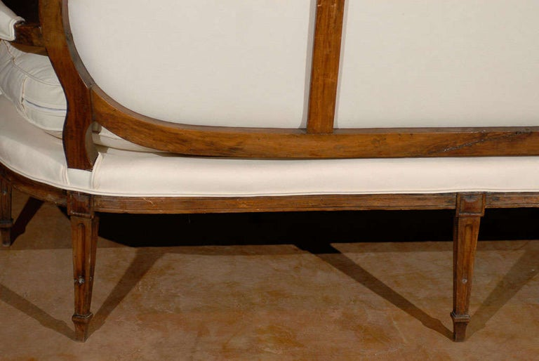 French Louis XVI Period Provençal Sofa Signed by Pillot from Nîmes, circa 1790 For Sale 5