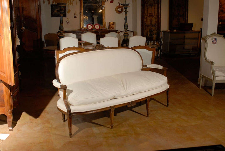 French Louis XVI Period Provençal Sofa Signed by Pillot from Nîmes, circa 1790 In Good Condition For Sale In Atlanta, GA
