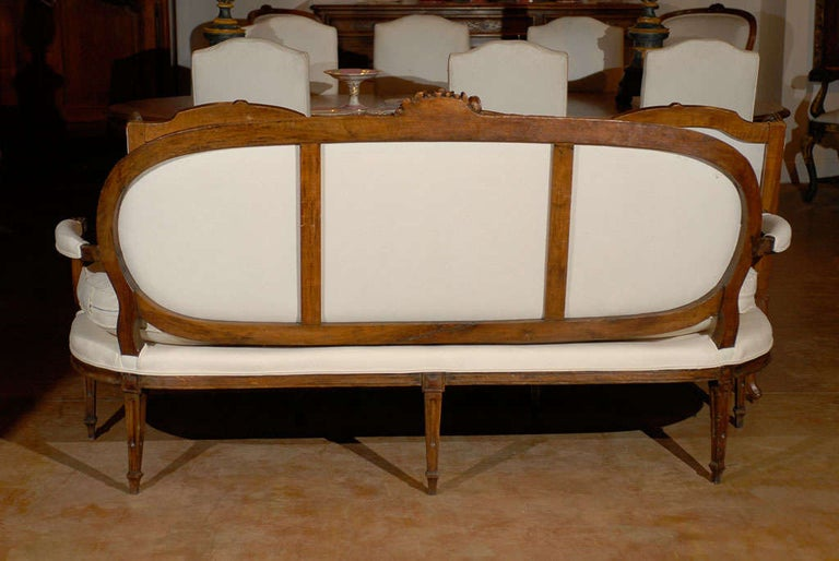 French Louis XVI Period Provençal Sofa Signed by Pillot from Nîmes, circa 1790 For Sale 4
