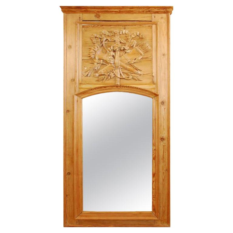 Louis XVI Period Trumeau Mirror For Sale
