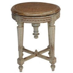 Louis XVI Piano Stool with Caned Seat, French, circa 1880