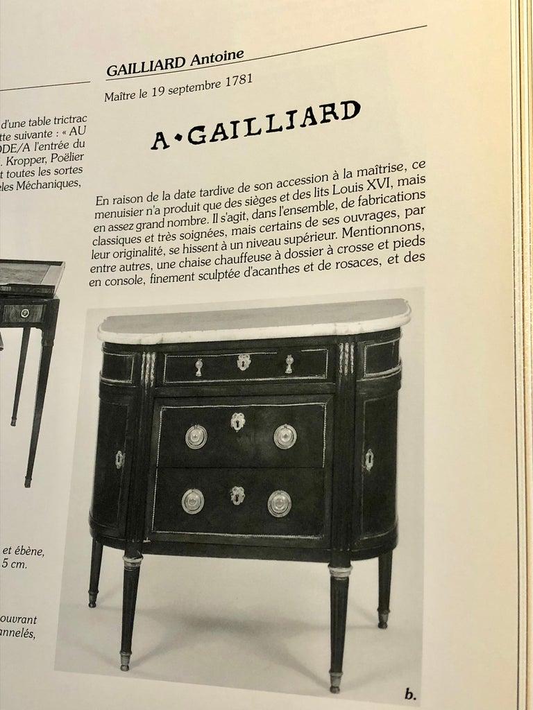 "Louis XVI Revolving Desk Chair, Signed ""A. Gailliard"" circa 1785 For Sale 4"