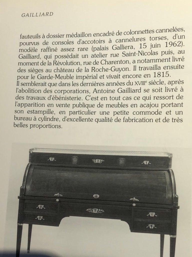 "Louis XVI Revolving Desk Chair, Signed ""A. Gailliard"" circa 1785 For Sale 5"