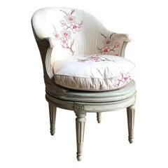 """Louis XVI Revolving Desk Chair, Signed """"A. Gailliard"""" circa 1785"""