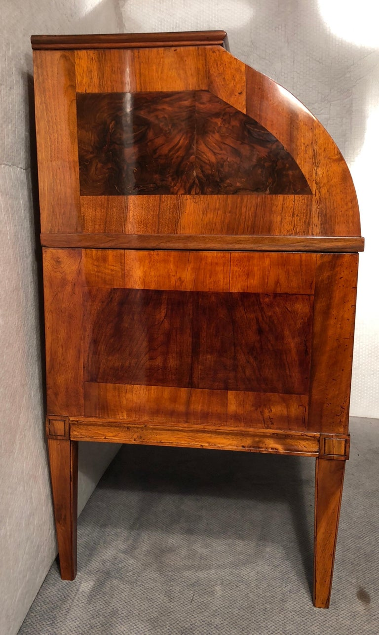 Veneer Louis XVI Rolltop Secretaire, South German, 1780-1800 For Sale