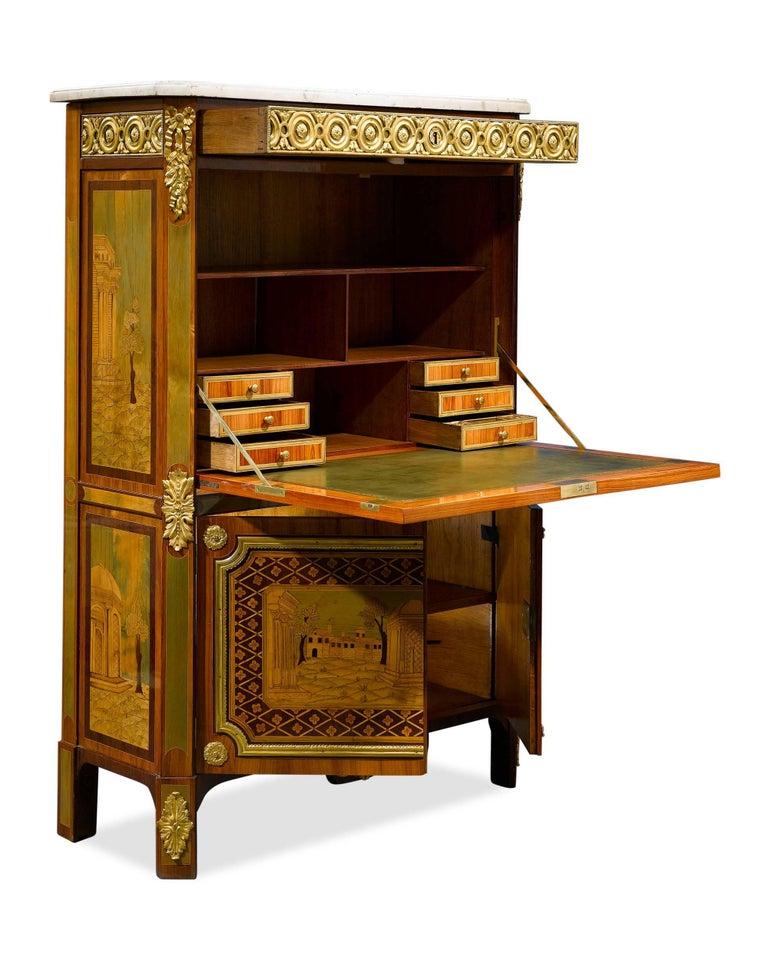 French Louis XVI Secrétaire à Abattant by André Gilbert For Sale