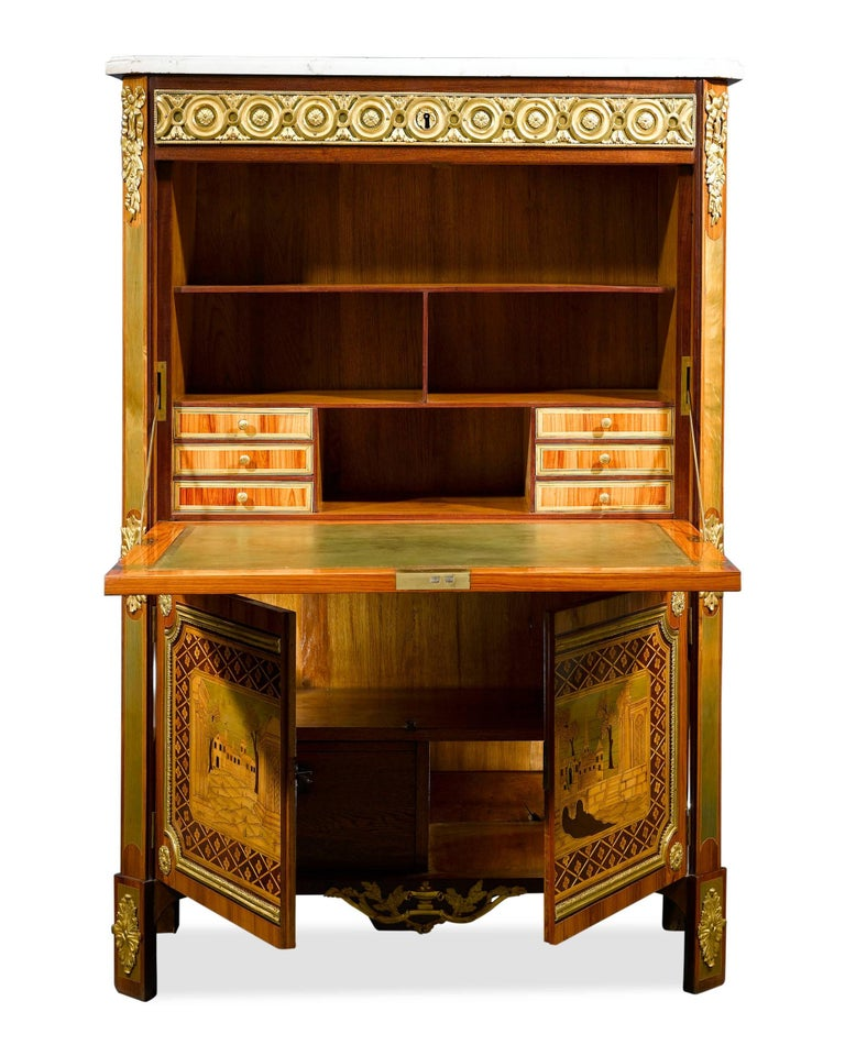 Louis XVI Secrétaire à Abattant by André Gilbert In Excellent Condition For Sale In New Orleans, LA