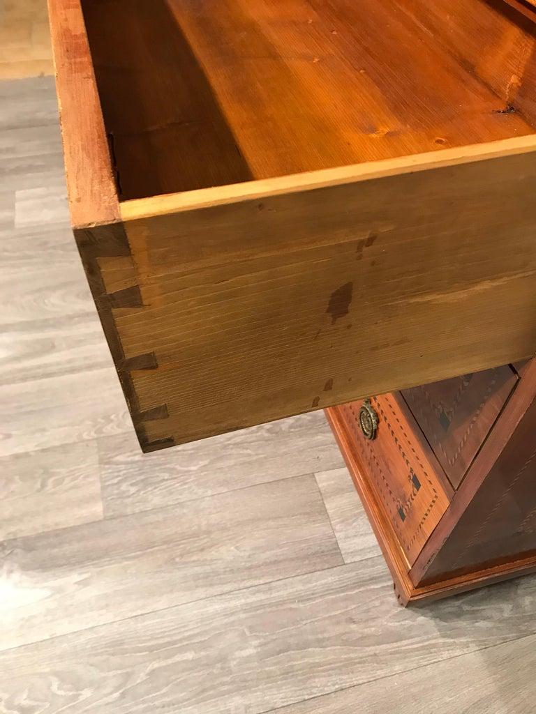 Louis XVI Secretary Bookcase, South German 1780, Cherry For Sale 6