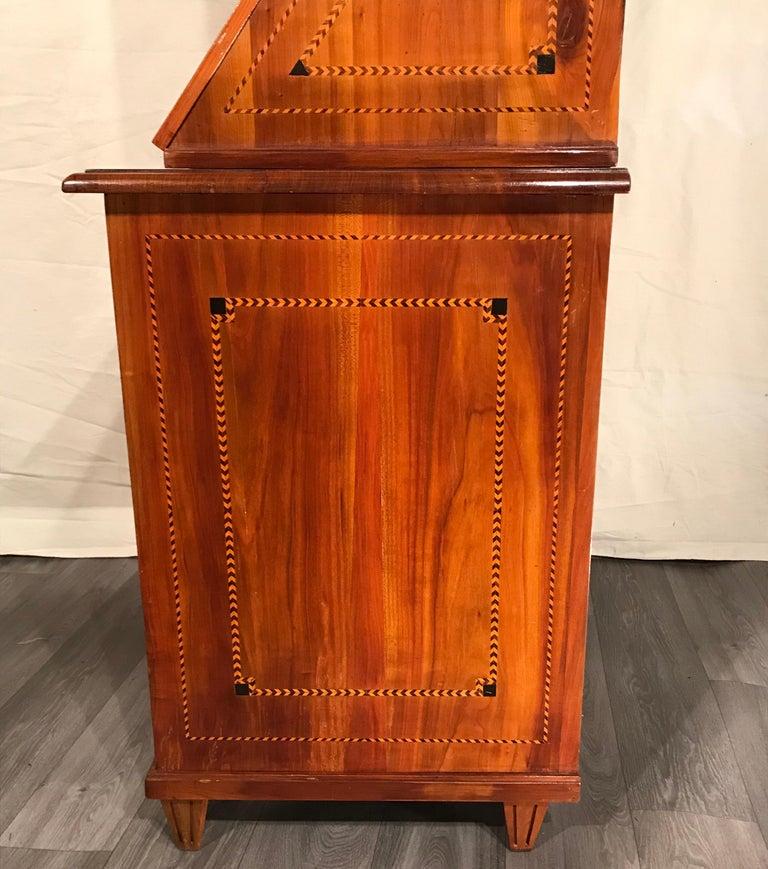 Late 18th Century Louis XVI Secretary Bookcase, South German 1780, Cherry For Sale