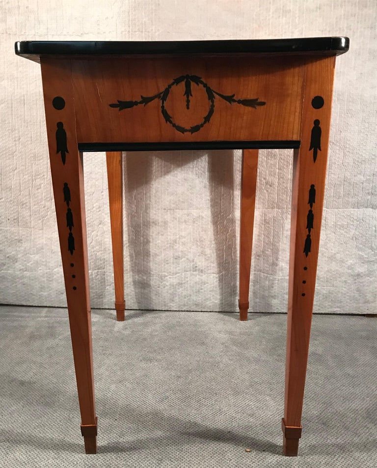 Late 18th Century Louis XVI Side Table or Small Desk, Germany, 1780-1800 For Sale