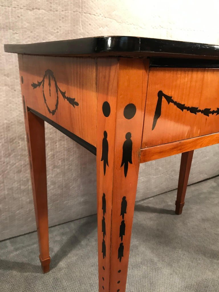 Cherry Louis XVI Side Table or Small Desk, Germany, 1780-1800 For Sale