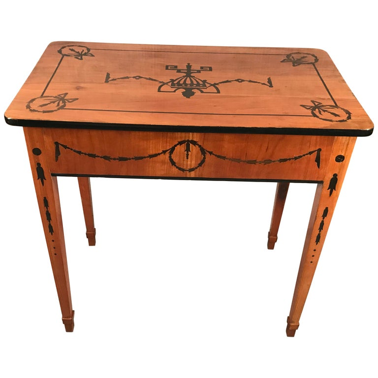 Louis XVI Side Table or Small Desk, Germany, 1780-1800 For Sale