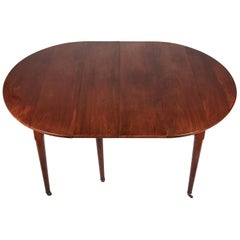 Louis XVI Style Acajou Mahogany Dining Table with Two Leaves