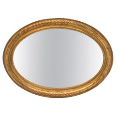 Louis XVI Style Antique Oval Mirror