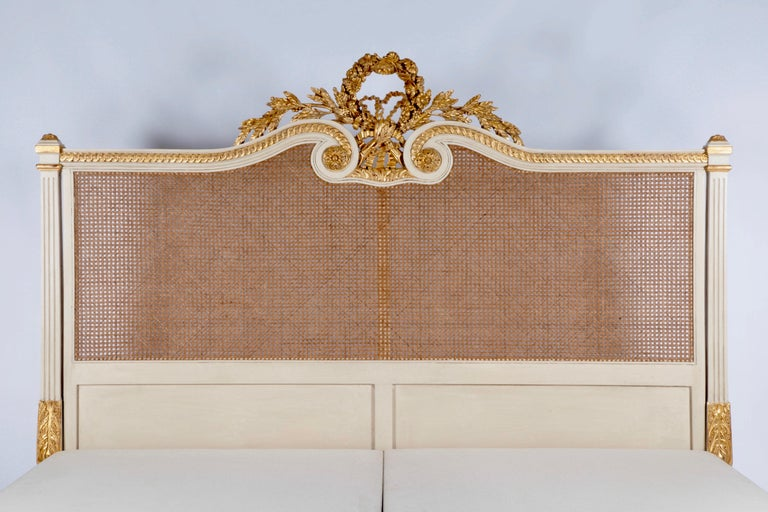 English The Rosace Bed: Hand Carved In The Louis XVI Style By La Maison London For Sale