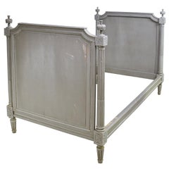Louis XVI Style Bed or 2-Twin Headboards in Original Paint, Gilded Age