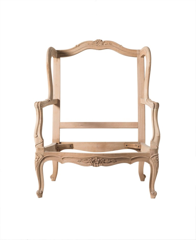 Chippendale Louis XVI Style Bergere Chair For Sale