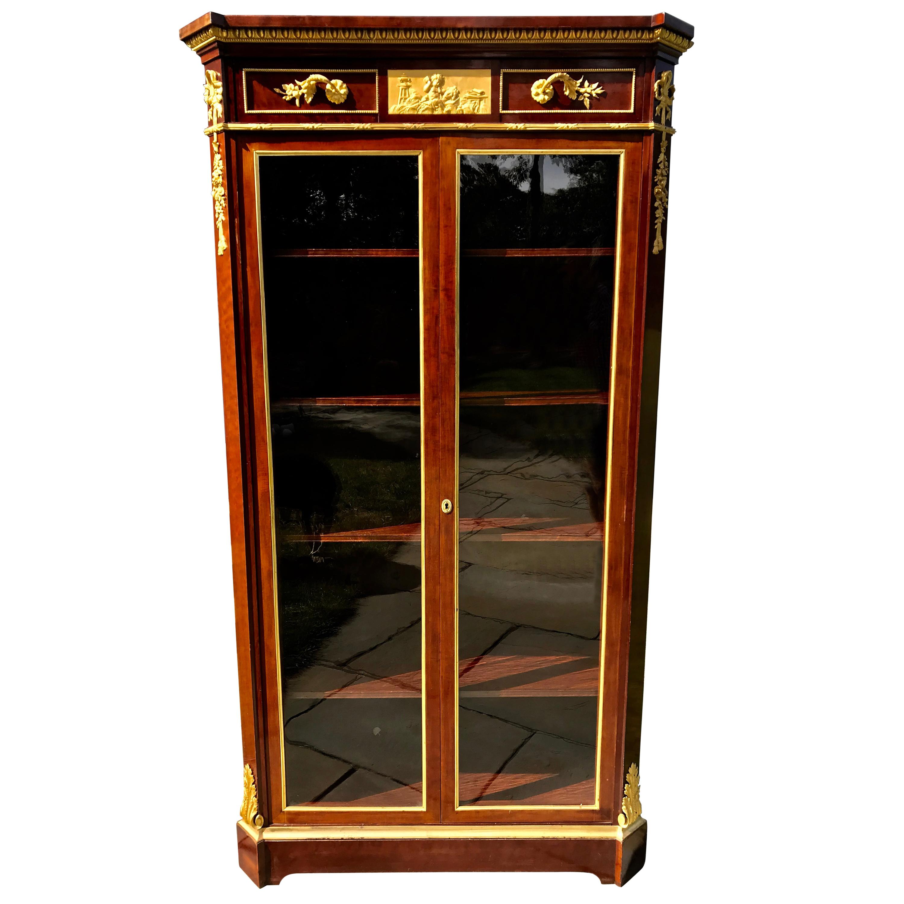 Mahogany Display Cabinet signed Beurdeley
