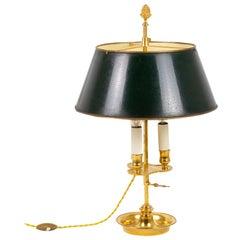 Louis XVI Style Bouillotte Lamp in Gilt Bronze, circa 1880