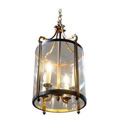 Louis XVI Style Brass Lantern