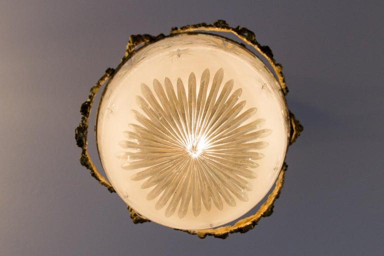 French Louis XVI Style Bronze and Cut-Glass Hall Lamp Lantern Pendant 7