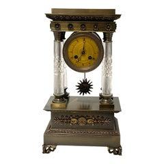 Louis XVI Style Bronze Mantle Clock