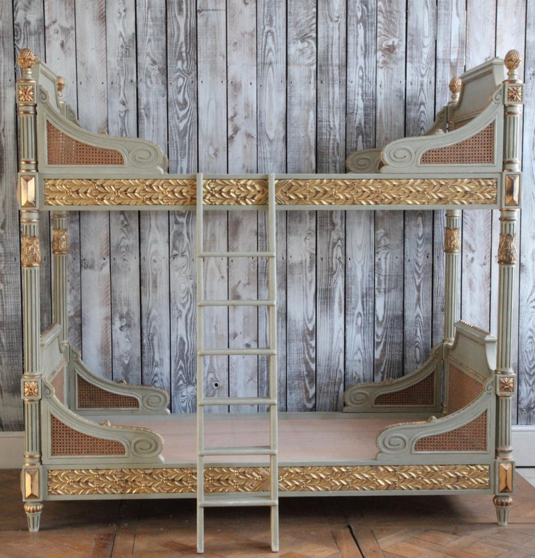 Louis XVI Style Bunk Beds/Matching Pair of Single Beds Made by La Maison London For Sale 4