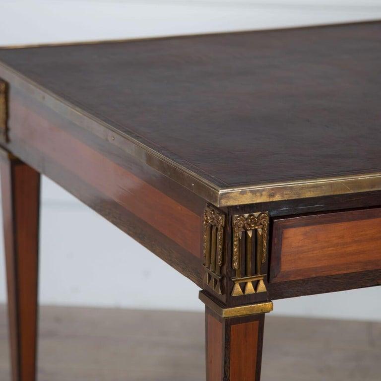 Brass Louis XVI Style Bureau Plat For Sale