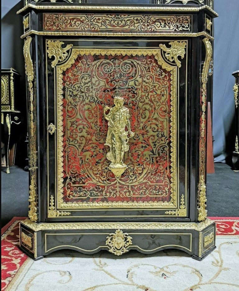 Louis XVI Style Cabinet, Boulle Marquetry, France In Good Condition For Sale In Paris, FR