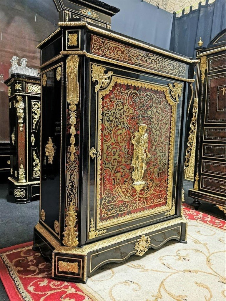 19th Century Louis XVI Style Cabinet, Boulle Marquetry, France For Sale