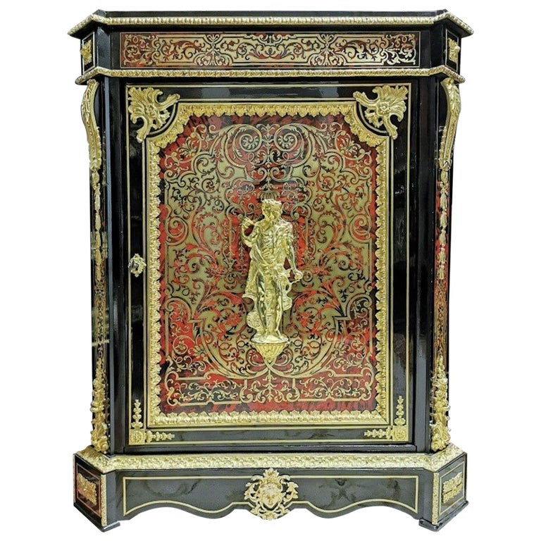 Louis XVI Style Cabinet, Boulle Marquetry, France For Sale