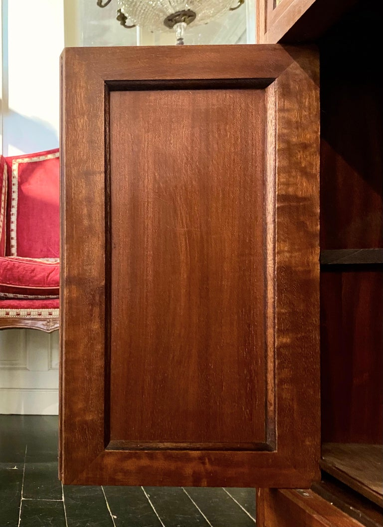 Louis XVI Style Cabinet or Small Cupboard with Marble Top, Bronze Gallery For Sale 13