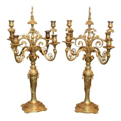 Louis XVI Style Candelabras Signed