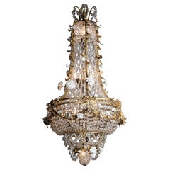 Louis XVI Style Cage Chandelier Attributed to L'Escalier de Cristal, circa 1900
