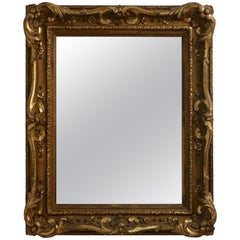 Louis XVI Style Carved and Gilt Frame Mirror, European, Mid-19th Century
