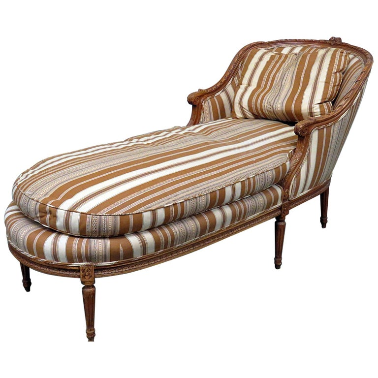 Chaise Lounge Styles: Louis XVI Style Chaise Lounge Chair For Sale At 1stdibs