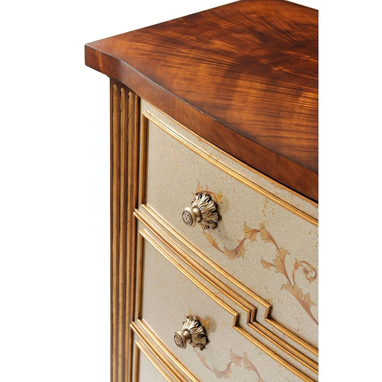 Wood Louis XVI Style Chest of Drawers For Sale