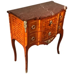 Louis XVI Style Chest of Drawers, kingwood marquetry, 19th century
