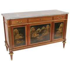 Louis XVI Style Chinoiserie Decorated Buffet