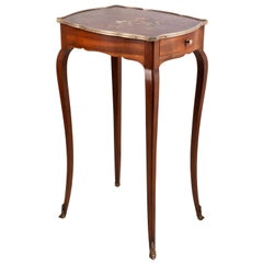 Louis XVI Style Chinoiserie Lacquer Side Table, circa 1900
