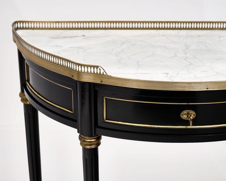 Brass Louis XVI Style Console Table For Sale