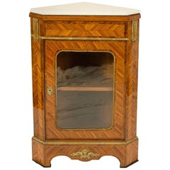 Louis XVI Style Corner Cabinet, France, by Hopilliart