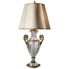Louis XVI Style Cut Crystal and Gilt Bronze Lamp by Gherardo Degli Albizzi